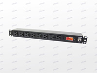 "19"" Rack Mount 1U8 Way External Power Socket Stripe (Digital Ammeter)"